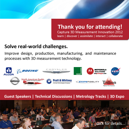 Capture 3D Measurement Innovation 2012