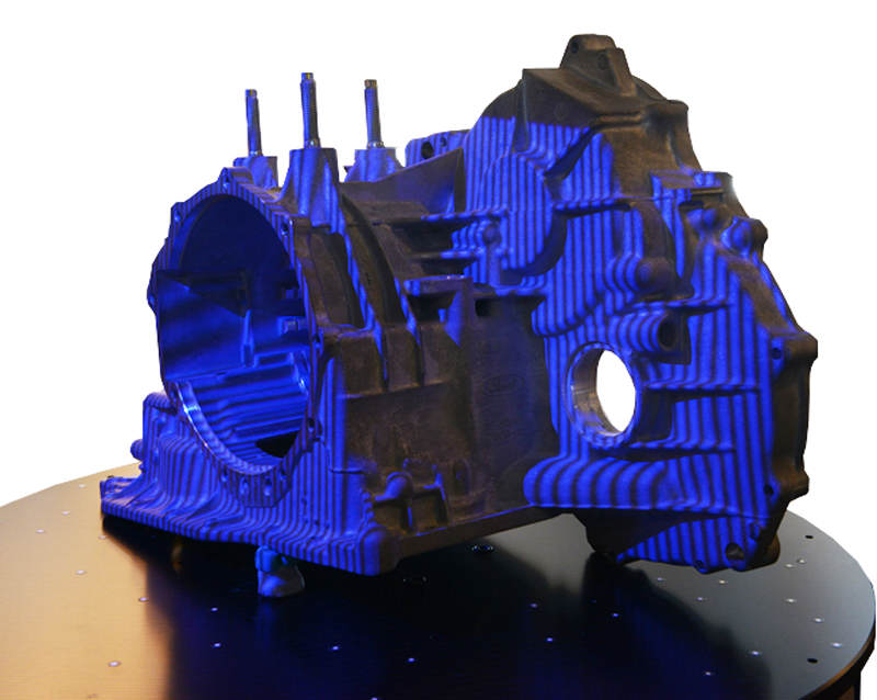 Structured blue light 3D scanner fringe projection