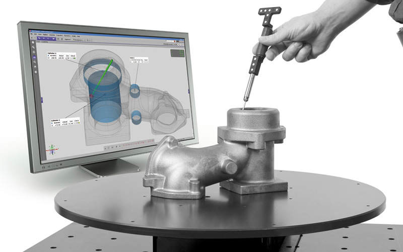 Touch probe coordinate measuring add-on for ATOS 3D scanner