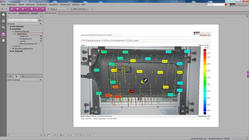 TRITOP Professional - Photogrammetry software for inspection and deformation analysis