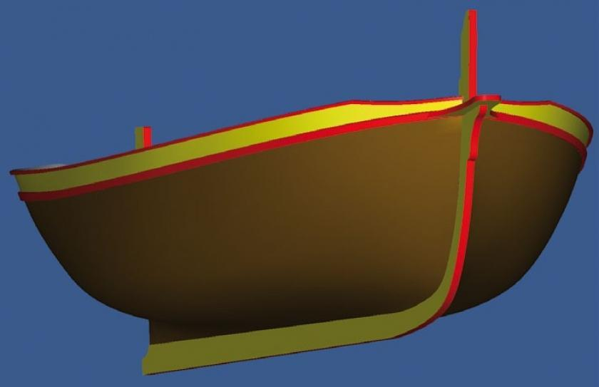 Nerezine | Reverse Engineering - Boat Model & Form Making: 3D Measurement of GAJETA Using TRITOP