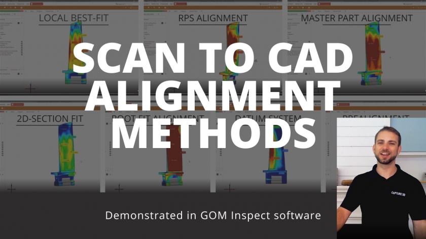 7 Scan to CAD Alignment Methods in GOM Inspect Software