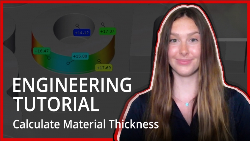 How to Calculate Material Thickness Using Free GOM Inspect Software