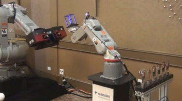 ATOS Triple Scan Automation with Dual Robots