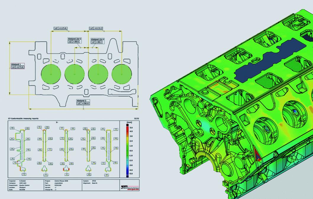 ATOS casting and forging inspection analysis